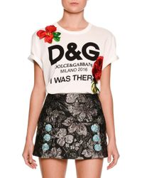 Dolce & Gabbana - White I Was There Logo-print T-shirt - Lyst