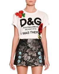 Dolce & Gabbana | White I Was There Logo-print T-shirt | Lyst