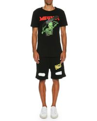 Off-White c/o Virgil Abloh - Black Spray-paint Logo Sweat Shorts for Men - Lyst
