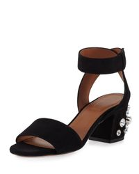 Givenchy | Black Paris Stud-heel City Sandal | Lyst