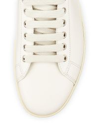 Tom Ford - White Russel Leather High-top Sneaker for Men - Lyst