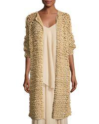 Ralph Lauren Collection   Natural Mesh Long Open Cardigan   Lyst