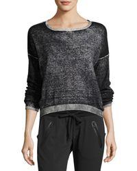 Blanc and Noir | Black Scoop-neck Boyfriend Pullover Sweater | Lyst
