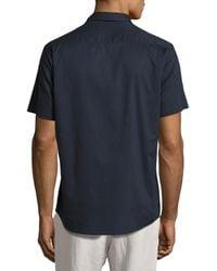 Vince - Blue Reverse-placket Short-sleeve Shirt for Men - Lyst