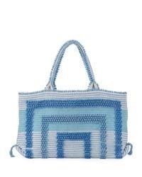 Antonello | Blue Martis Woven Cotton Tote Bag | Lyst