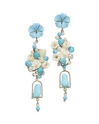 Of Rare Origin - Blue Turquoise & Pearl Nester Earrings - Lyst