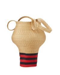 Rosie Assoulin - Multicolor Striped Woven-straw Jug Bag - Lyst