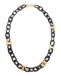 Ashley Pittman   Metallic Bronze & Horn Link Mara Necklace   Lyst
