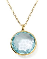 Ippolita   Metallic 18k Gold Rock Candy Lollipop Pendant Necklace   Lyst