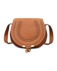 Chloé | Brown Marcie Small Leather Crossbody Bag | Lyst