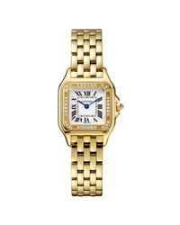 Cartier - Panthère Medium Yellow Gold & Diamonds - Lyst