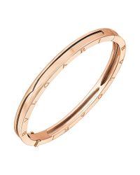 "BVLGARI - 18k Pink Gold ""bzero1"" Bangle Bracelet - Lyst"