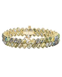 "Paolo Costagli - Green Sapphire ""ombre"" Two-row Bracelet - Lyst"