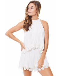 Lovers + Friends - White Nicky Romper/ Ivory - Lyst