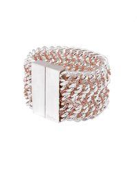 Bex Rox | Pink Chain On Chain Bracelet | Lyst