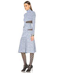 Proenza Schouler | Black Slashed Turtleneck Dress | Lyst
