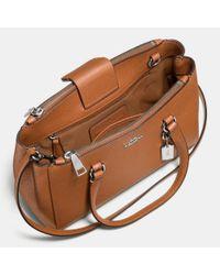 COACH - Metallic Stanton Carryall 26 In Crossgrain Leather - Lyst