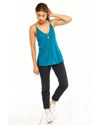 Project Social T | Blue Double-v Cami | Lyst