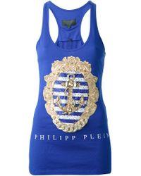 Philipp Plein - Blue 'summer Time' Tank Top - Lyst