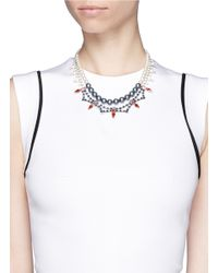 Joomi Lim - Blue Crystal Pearl Double Strand Necklace - Lyst
