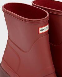 HUNTER - Red Women's Original Mid Wedge Short Boots - Lyst