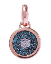 Monica Vinader | Blue And White Diamond Evil Eye Rose Gold Pendant | Lyst
