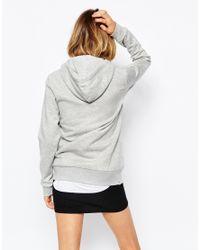 PUMA - Gray Hooded Sweatshirt - Lyst