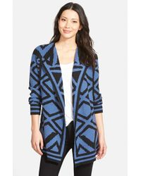 NIC+ZOE | Blue 'mirrored Angles' Sweater Jacket | Lyst