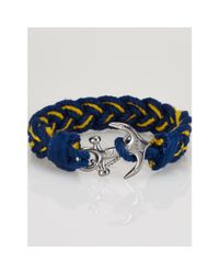 Polo Ralph Lauren | Yellow Anchor Two-toned Bracelet | Lyst