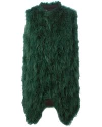 Giorgio Brato - Green Feather Wool-Blend Gilet  - Lyst