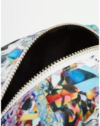 Jaded London | Multicolor Holographic Crystal Print Make-up Bag | Lyst