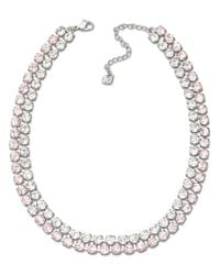 Swarovski | Pink Vintage Rose And Clear Crystal Collar Necklace | Lyst