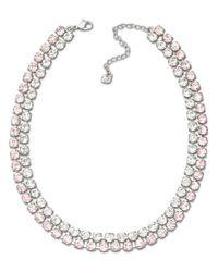 Swarovski - Pink Vintage Rose And Clear Crystal Collar Necklace - Lyst