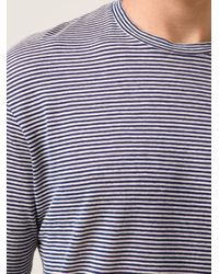 DSquared² - Blue Striped T-Shirt for Men - Lyst