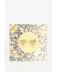 Urban Outfitters | Metallic Shark Tooth Stud Earring | Lyst