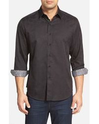 Robert Graham - Black 'cullen' Classic Fit Jacquard Sport Shirt for Men - Lyst