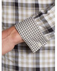 Michael Kors - Multicolor Windowpane Plaid Cotton Sportshirt for Men - Lyst