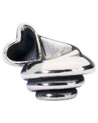 Trollbeads | Metallic Sterling Silver Heart Conch Bead | Lyst