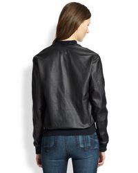 Rag & Bone - Black The Bomber Leather Jacket - Lyst