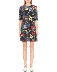 Erdem | Multicolor Floral-print Silk Dress | Lyst
