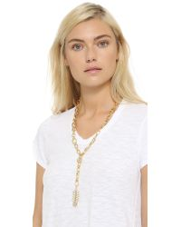 DANNIJO - Metallic Michele Necklace - Gold/crystal - Lyst