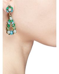 Aerin | Green X Erickson Beamon Crystal Teardrop Earrings | Lyst