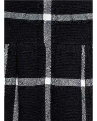 Alice + Olivia - Black 'kimbra' Checkered Drop Waist Plaid Skirt - Lyst