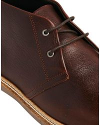 SELECTED - Brown Homme Chukka Boots for Men - Lyst