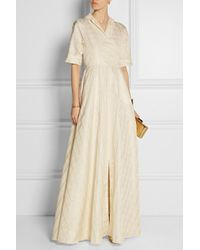 Lela Rose | White Checked Taffeta Wrap Gown | Lyst