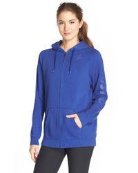 Nike | Blue 'rally' Front Zip Hoodie | Lyst