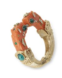 Kenneth Jay Lane | Pink Coral Dragon Head Bracelet | Lyst