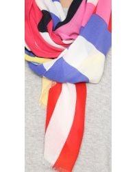 Kate Spade | Multicolor Flage Stripes Oblong Scarf | Lyst