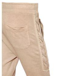 Balmain - Natural Lace-up Cotton Jersey Jogging Pants for Men - Lyst