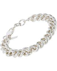 Loren Stewart | Metallic Sterling Silver Curb Chain Bracelet | Lyst